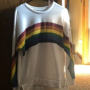 Carbon Copy size large rainbow sweatshirt